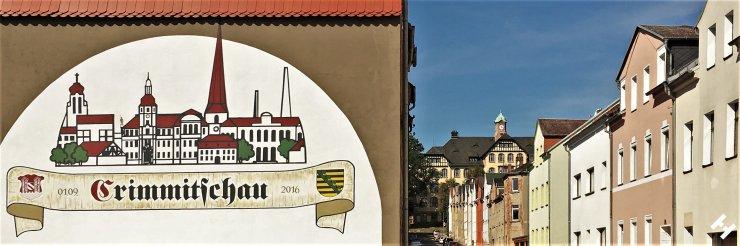 Blick von der Werdauer Straße in die Südstadt mit Lindenschule