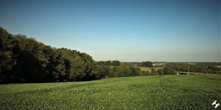 Oberhalb der Westtrasse mit Blick Richtung Crimmitschau