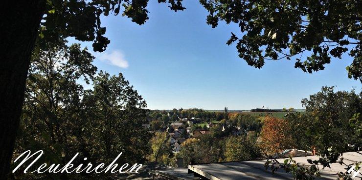 Neukirchen und Lauterbach vom Berghang der Gartenanlage