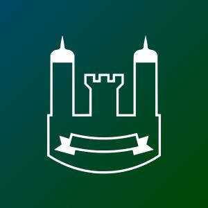 Darstellung eines Schlosses oder einer Burg welches sinnbildlich für das Burgen und Schlösserland steht