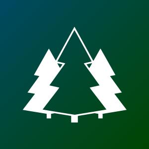 Darstellung von 3 Nadelbäumen sinnbildlich für die Wälder im Ostthüringen und Westsachsen
